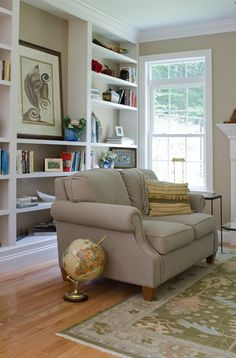 FINESSE in color SUNDEWWith its casual good looks and versatile cut/loop construction, Finesse offers appealing options for any interior space in your home. Made of Durasilk P. polyester and available in eight enticing colorways. Shelves Around Tv, Built In Shelves, Open Shelves, Built Ins, Stanton Carpet, Family Room Walls, Home Carpet, Diy Wall Decor, Home Decor