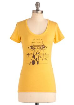 My Neck of the Woods Top: Whether youre exploring your hometown with a photo safari or seeing the sights in a new city with a herd of your closest friends  you always feel right at home …    #1960s #60s #Retro #Vintage #ModCloth, #MyNeckOfTheWoodsTop, #Yellow