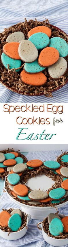Speckled Egg Cookies for Easter www.thebearfootbaker.com