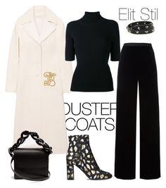 """""""Duster Coats"""" by elitstil on Polyvore featuring RED Valentino, Tory Burch, T By Alexander Wang, Valentino, Yves Saint Laurent and Marques'Almeida"""