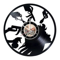 Beauty Salon Vinyl Record Wall Clock gift idea wall art decor