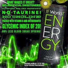 Get ready for an energy drink like nothing else out there! Light and fruity with only natural fruit juice concentrates for flavor and no artificial sweeteners! http://www.fitupwithtanya.com