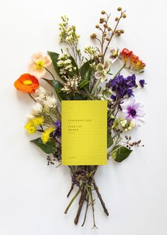 Conversations with Creative Women: Volume Two by Tess McCabe of Melbourne's Creative Women's Circle.  Photo by Martina Gemmola, Flowers by Cecilia Fox, Art direction and styling by Tess McCabe via thedesignfiles.net
