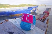 Upcycled Kite Product | Made in Cabarete | Reusable Baby Diapers from Kiteboarding Kites | Making the World a Better Place