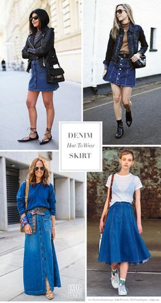 How to Wear Your Denim Skirt