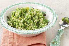 Een reuze recept voor kleine en grote hollebolle buikjes: pappardelle, gebakken kip en pesto gemaakt van broccoli en basilicum. Geschikt vanaf 6 maanden.