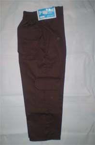 Celana Pramuka Putra no 27 Warna = Coklat tua Ukuran No 27  Lingkar Pinggang = 58 cm, Berkaret Molor  Saku tempel  Panjang = 85 cm  Bahan = Drill http://tokoyuan.com/seragam-laki/celana-pramuka-putra-no-27/
