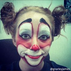 Clown #facepaint #bodyart #makeupbymarley
