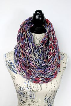 Unique Knit Scarf - Gift for Her - Chunky Infinity - Bulky Knit Snood - Girlfriend Gift - Winter Accessories - Shawls - Scarfs - Wife Gift