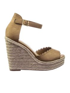c09c62a7484 Herald Espadrille Jute Rope Wrap Platform Wedge Sandal w Rounded Trimming