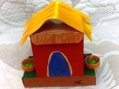 Make a hut Welcome to Crafts corner! - Here you will learn how to use things around the house to build creative projects. This reuse of scrap material to make something of more value is called 'upcyling'. This month we will learn how to make a hut.