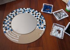 Outstanding mosaic mirror ideas Snapshots, fresh mosaic mirror ideas and diy mirror mosaic wall art another mosaic mirror project home interior ideas pictures 25 mosaic mirror craft ideas Mirror Mosaic, Mosaic Art, Mosaic Glass, Mosaics, Mirror Mirror, Mosaic Tiles, Stained Glass, Mosaic Crafts, Mosaic Projects