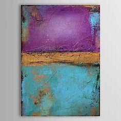 Pintado a mano aceite de la pintura abstracta 1303-AB0370 - USD $ 63.99