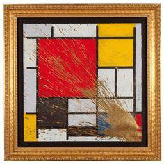 Mr. Brainwash (Né en 1966) - Mondriart (gold), 2010 - Peinture aérosol sur [...], Urban Art à Tajan