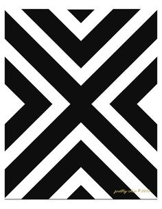 Nautical Flag Print Modern Art Abstract Black & by prettychicsf
