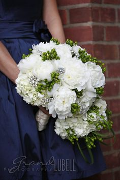 for a blue and green wedding