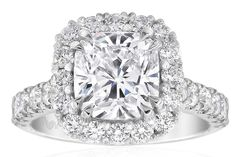 Aura Cushion Cut Diamond Ring By Gerard McCabe - Gerard McCabe Jewellers