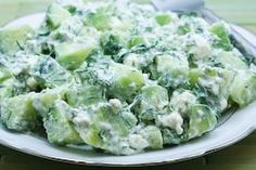 Cucumber and Yogurt Salad Recipe with Feta and Dill (Love this combination!)