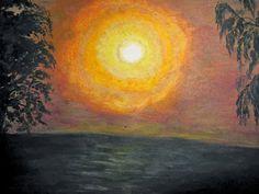 GALERIA PALOMO MARIA LUISA: AMANECIENDO Painting, Dawn, Scenery, Painting Art, Paintings, Painted Canvas, Drawings