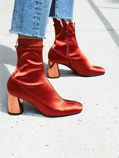 FP Collection Rust Spectrum Sock Boot at Free People Clothing Boutique