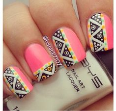 Get inspirations from these cool stylish nail designs for short nails. Find out which nail art designs work on short nails! Get Nails, Fancy Nails, Love Nails, How To Do Nails, Hair And Nails, Crazy Nails, Fabulous Nails, Gorgeous Nails, Pretty Nails