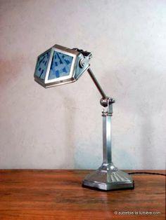 Lampe Pirouett salon modèle nuage | Exceptionnelle modèle de lampe Pirouett salon produite entre 1926 et 1931, avec deux particularités ...