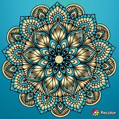 Mandala Design, Mandala Art, Mandela Patterns, Sacred Geometry Art, Flower Photos, Zentangle, Coloring Pages, Design Art, Embroidery Designs