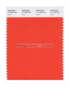 Pantone Smart 17-1462 TCX Color Swatch Card, Flame - Pantone Pantone Colour Palettes, Pantone Color, Seasonal Color Analysis, Season Colors, New Pins, Light Art, Geraniums, Color Blocking, Quilt Patterns