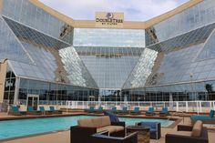 DoubleTree Orlando Airport Hotel Review Orlando Airport, Airport Hotel, Conrad Hotel, Airport Shuttle, Hotel Reviews, Louvre, Around The Worlds, Florida, Building