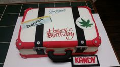Amy's Crazy Cakes - Suitcase, Non Voyage Cake with raspberry filling