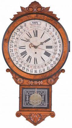 """William L. Gilbert Clock Co., Winsted, Conn., """"Office Drop Calendar"""",... Lot 914"""