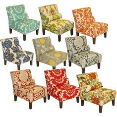 Slipper Chairs from Target - such a cute splash of color!