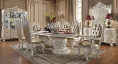 Italian Empire, Empire Style, New Set, Table Settings, Carving, Luxury Home Furniture, Chair, Prince And Princess, Classic
