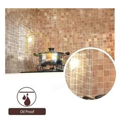 45x500cm PVC Kitchen Mosaic Wall Sticker Waterproof Aluminum Foil Self-Adhesive Bathroom Wallpaper at Banggood