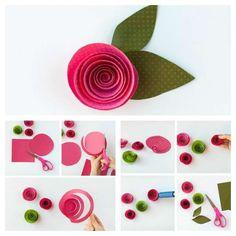 Rose en tourbillon. 16 Tutos faciles pour fabriquer de magnifiques fleurs en papier