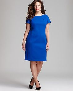 $111 Tahari Woman Rumer Dress Blue Lagoon
