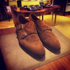 Edward Green MTO - Westminster Coffee Suede   #EdwardGreen #EG #DoubleMonks #MadeInEngland #tassels #hongkong  (at TASSELS - Gentlemen's Shoe Store)