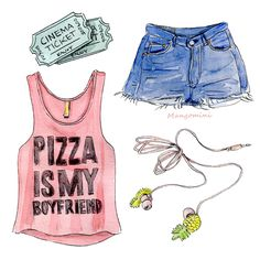 Pizza is my boyfriend - Cindy Mangomini for Sparknotes