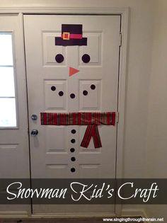 Fun Snowman Kid's Craft #winter #Christmas
