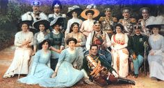 """The Montenegrin Royal Family with King Aleksandar Karadjordjevic.    (Photo taken 1910 during the crowning of King Nikola of Montenegro)    King Nikola of Montenegro """"The father-in-law of Europe"""" is seated with Queen Milena in the middle of second row.  In front of King Nikola is seated Prince Aleksandar Karadjordjevic, future king of Yugoslavia.  King Aleksandar, born in Cetinje, was the grandson of King Nikola.     Standing in the back row (left to right):   Prince Petar Nikolajevic…"""
