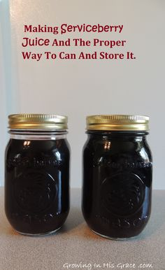 What do you do with your serviceberries after you pick them?  Learn how to make serviceberry juice and can it for pantry storage.  This stuff is so good.