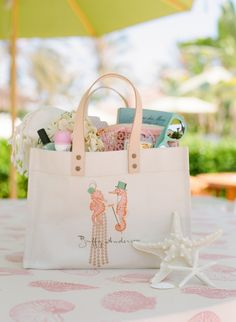 Spa Day Shower - Guest Gifts / totes by IOMOI