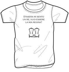 T- shirt con stampa di Gomorra la serie. Stasera mi sento un re, vuoi essere la mia regina?