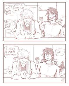 Bakugo x kirishima Boko No Hero Academia, Boku No Academia, My Hero Academia Memes, Hero Academia Characters, My Hero Academia Manga, Fictional Characters, Cute Gay, Funny Cute, Cute Comics
