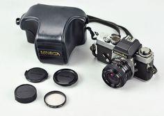 MINOLTA XE-5 KAMERA SOLIGOR 28mm WIDE ANGLE 2.8 OBJEKTIV LENS VINTAGE CAMERA