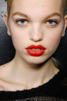 Make-up by Dick Page for Shiseido. Marc by Marc Jacobs Fall 2012.