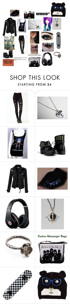 """""""Ready for the day"""" by dancing-tadertot ❤ liked on Polyvore featuring Max Factor, Beats by Dr. Dre, Stephen Webster, Lauren Wolf, Equipment and Paul's Boutique"""