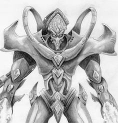 How to draw a Protoss