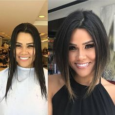 Mind Blowing Hair Transformation Before & After Photos - Gallery - Neue Frisuren 💇 Cute Hairstyles For Short Hair, Pretty Hairstyles, Short Hair Cuts, Hairstyles Haircuts, Ladies Hairstyles, Inverted Bob Hairstyles, Oval Face Haircuts, Medium Bob Hairstyles, Modern Hairstyles