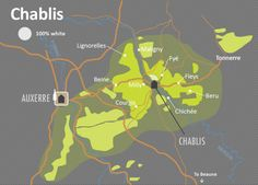 Chablis Wine Map - by Wine Folly